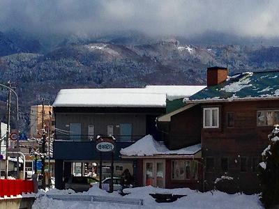 冬の冠雪の蔵王風景
