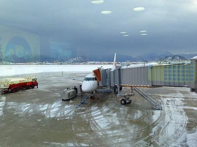 山形空港からは無事に飛行機が空を飛ぶことができました。