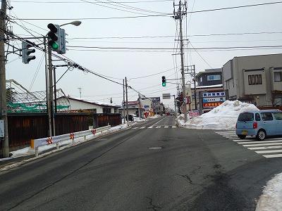 今朝の旧国道13号線です。