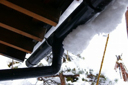 雪景色の我が家の庭