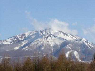 大鳴沢方面から眺めた岩木山