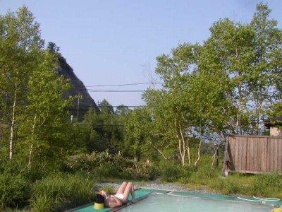 豊国館の露天風呂