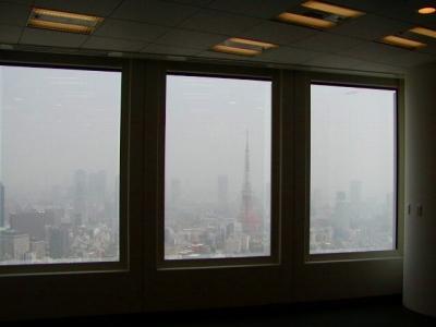 六本木ヒルズの会場はビルの40階だけあって眺めが素晴らしいです。