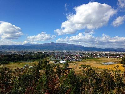 東根市内の田んぼの風景