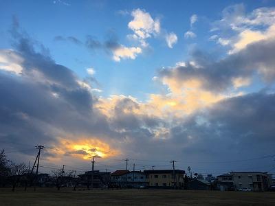 神町の夕焼け