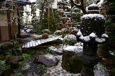 我家の庭 雪景色