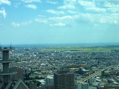 仙台市から海が眺められました