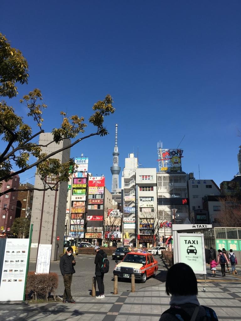 錦糸町からの東京スカイツリーの眺め