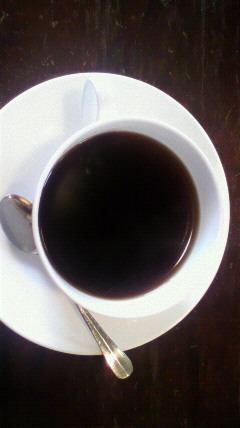 食後のコーヒーです。喫茶店...