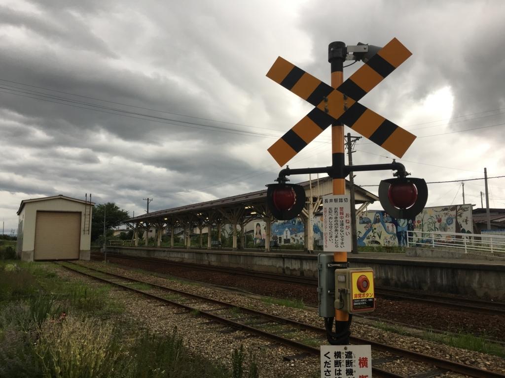 フラワー長井線の線路