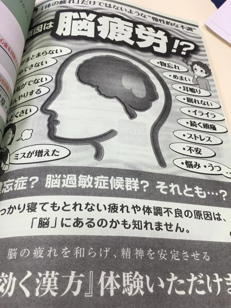 脳疲労のチェック表