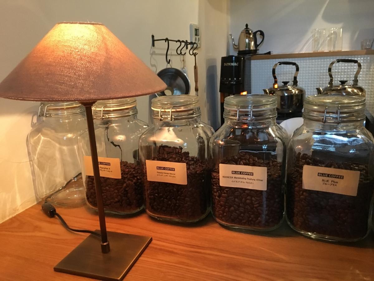 コーヒー屋さんのカウンター
