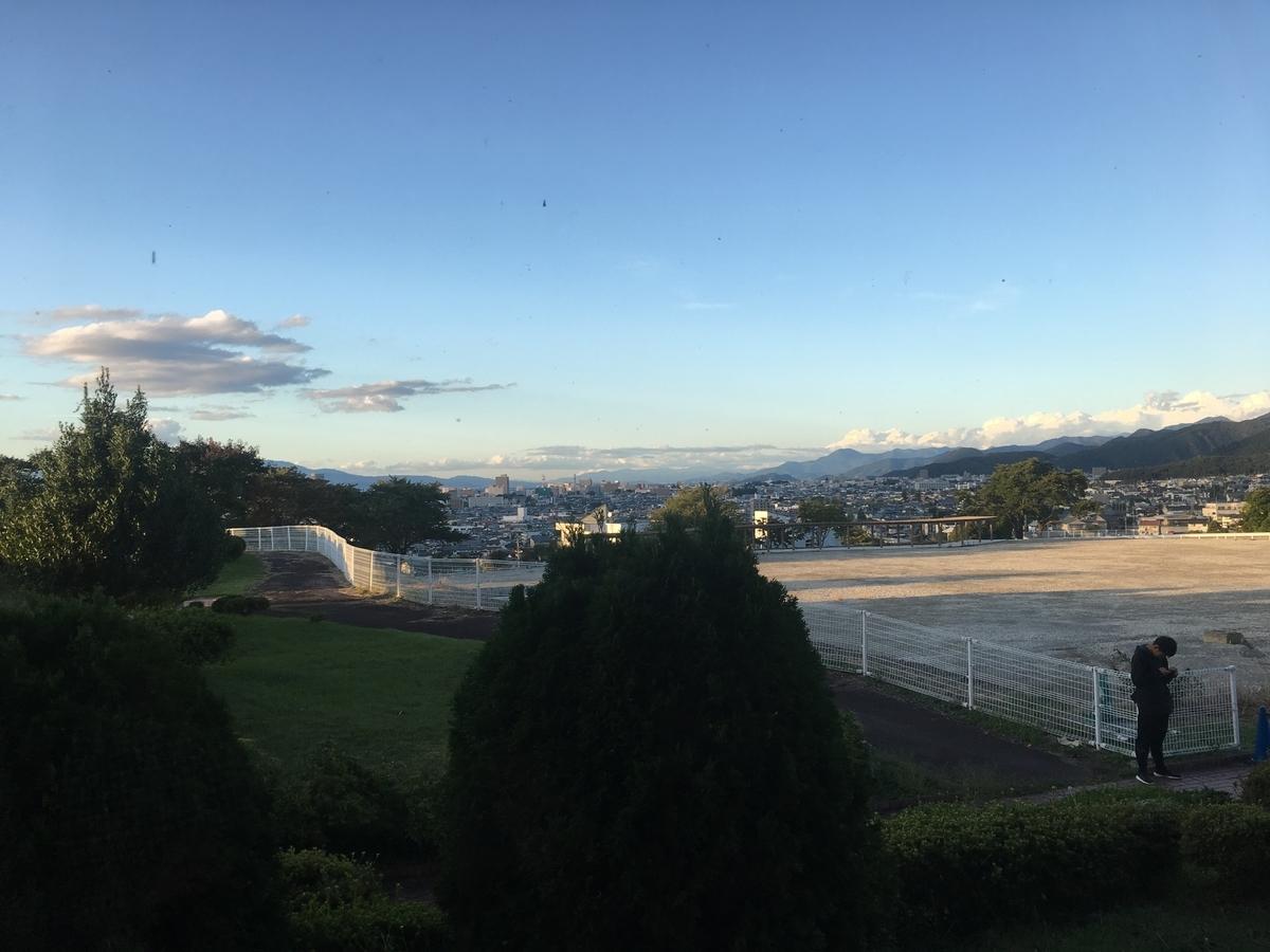 ヒルズサンピア山形からの眺め