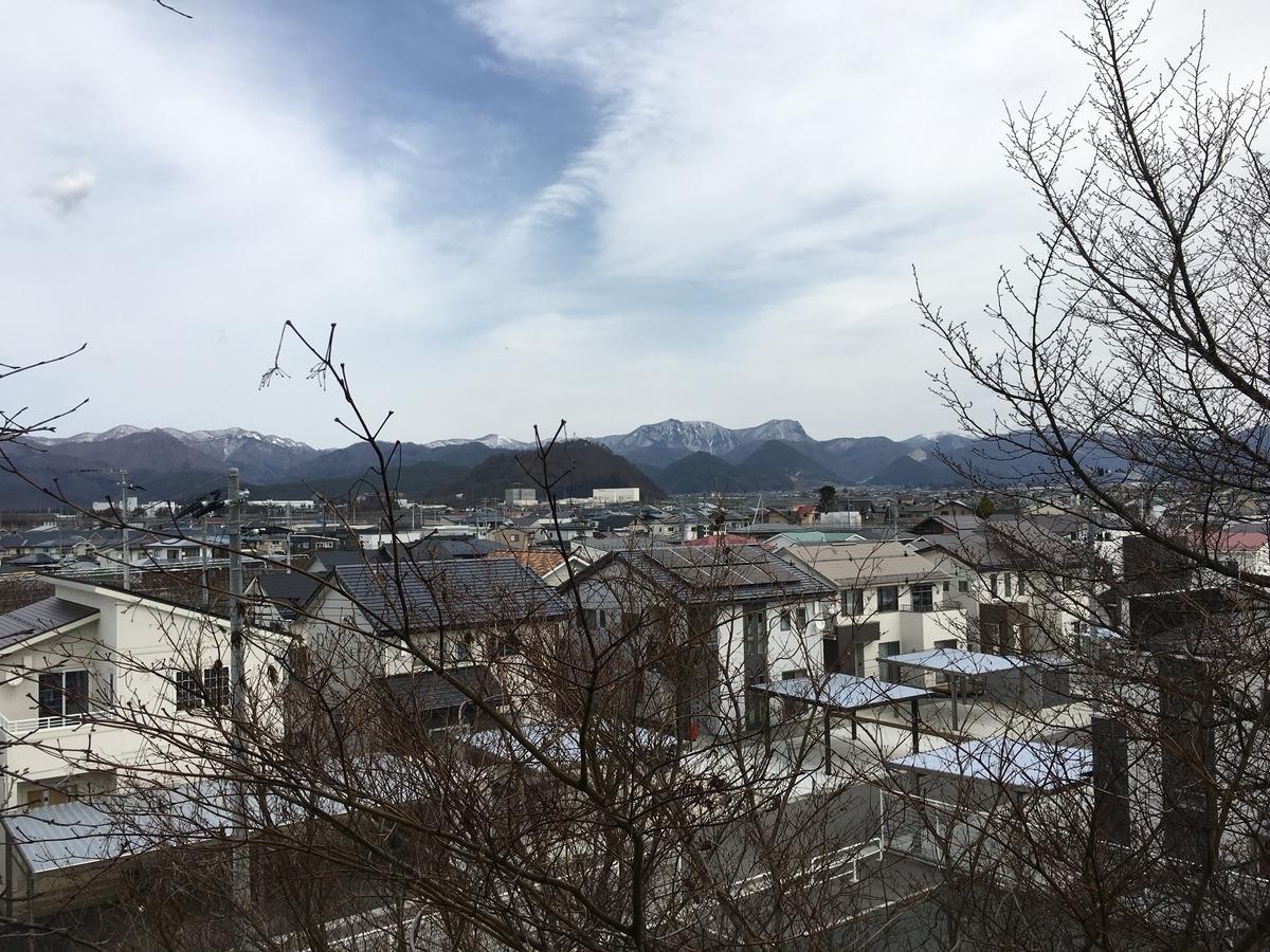 奥羽山脈も春の眺め