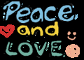 Peace and love! bored srryy :l