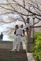 [大阪][桜][野球]練習中。