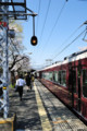 [電車]阪急嵐山線松尾駅。