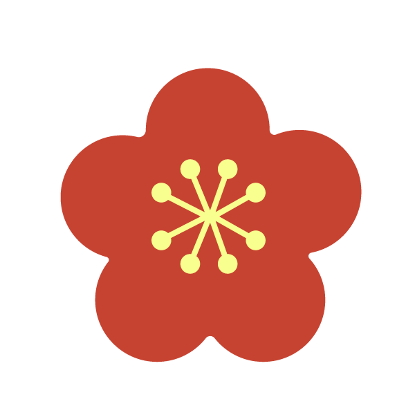 New Year's flower (red plum blossom)