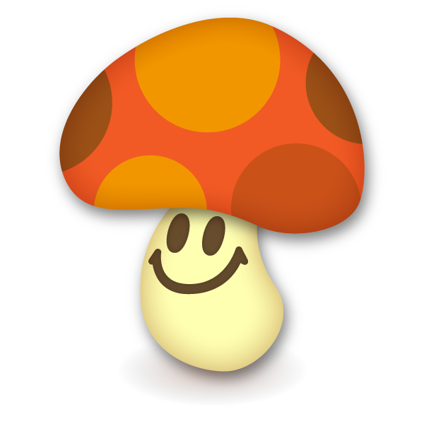 Mushroom with dot pattern