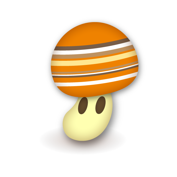 Mushroom with Striped pattern
