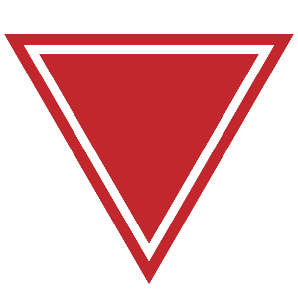 Triangle with a border line (red)