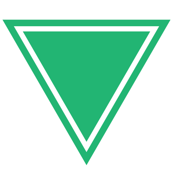 Triangle with a border line (Green)