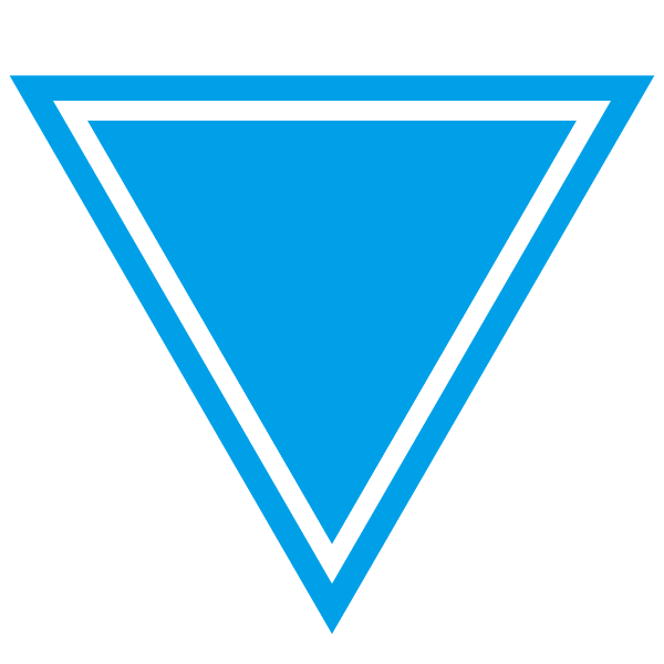 Triangle with a border line (Light blue)