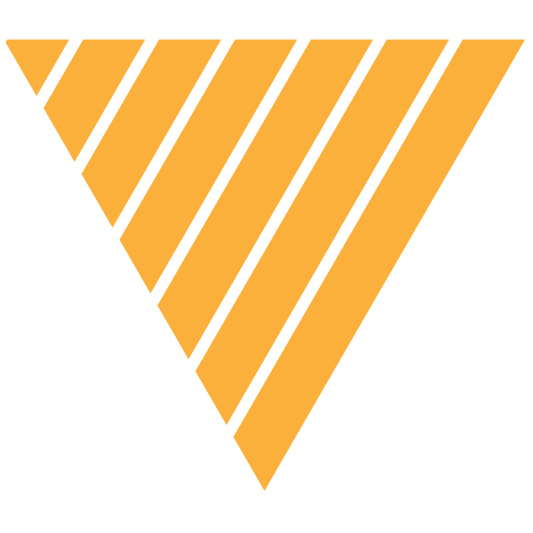 Triangle of Yellow and thin transparent stripes