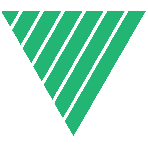 Triangle of Green and thin transparent stripes
