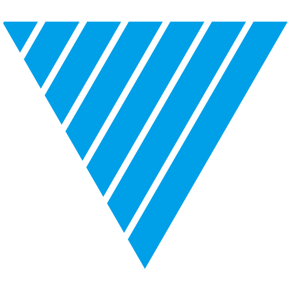 Triangle of Light blue and thin transparent stripes