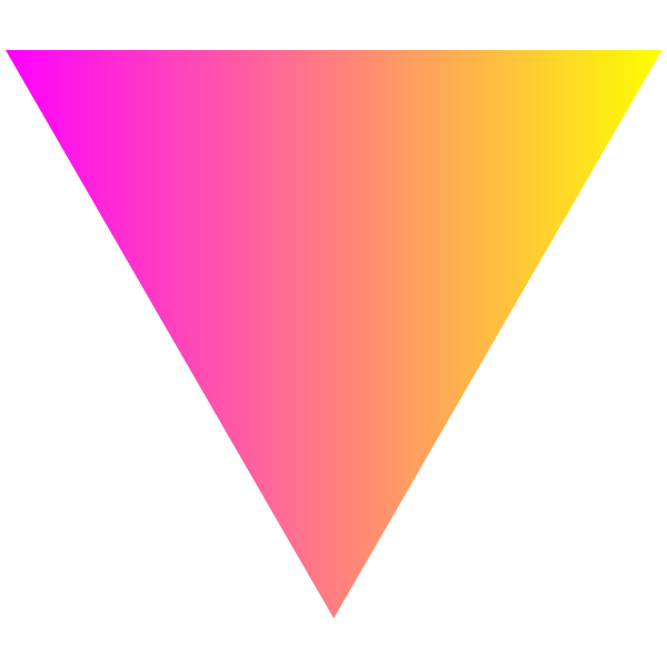 Pink and yellow gradient triangle