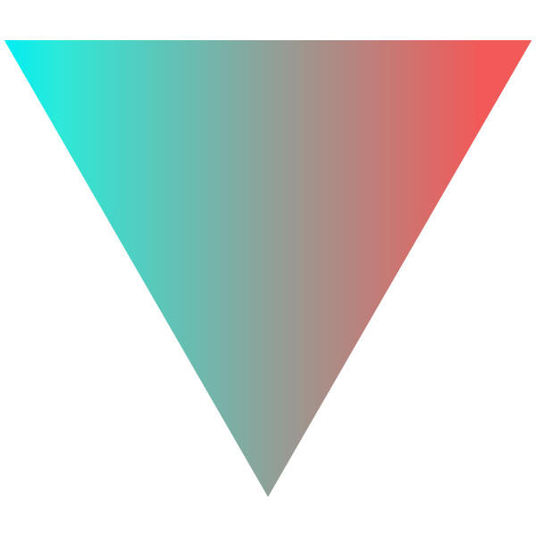 Stylish green and orange gradient triangle