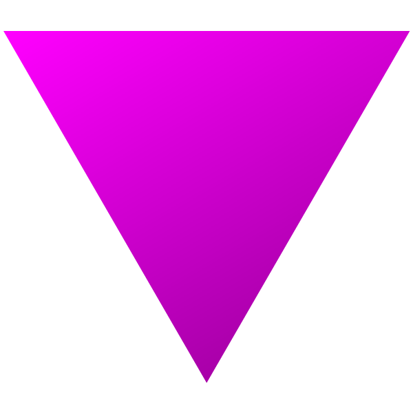 Hot pink triangle with a little shading