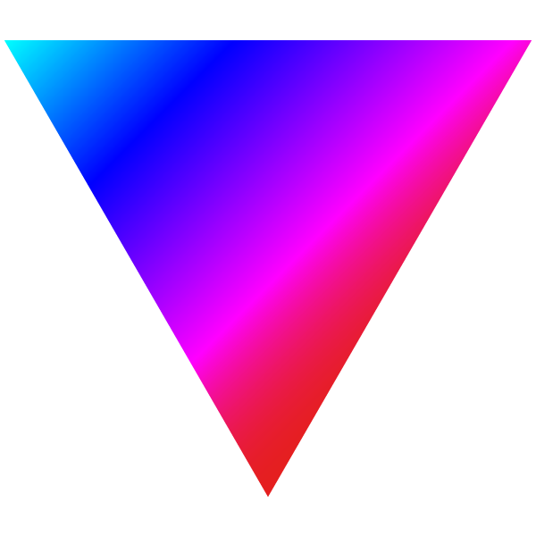 Vivid rainbow triangle
