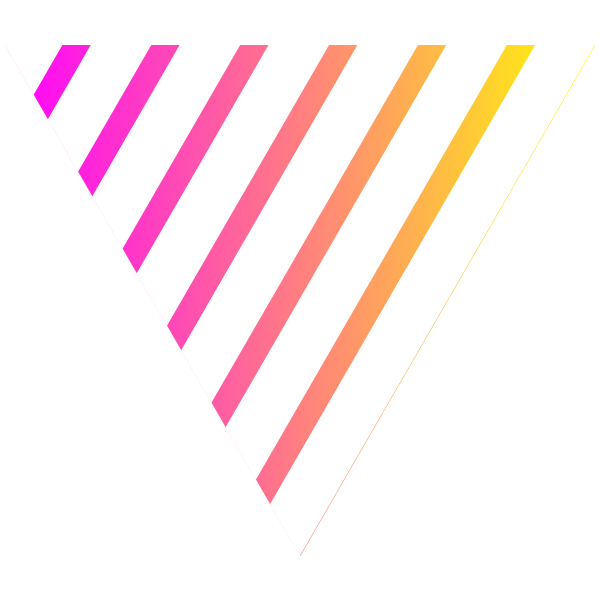Triangle of pink gradient stripe on white