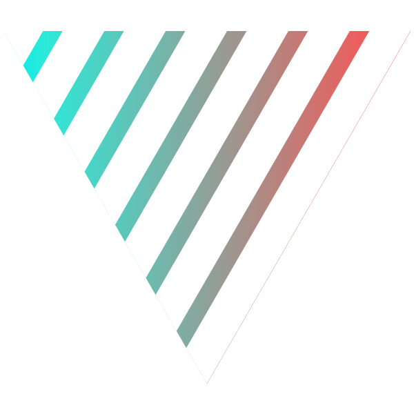 Triangle of cool gradient stripe on white