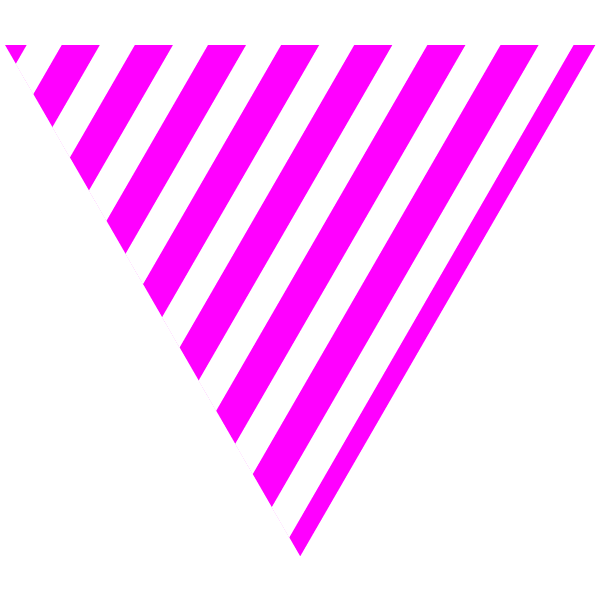 Hot pink and white striped triangle