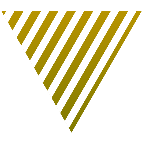 Gold and white striped triangle