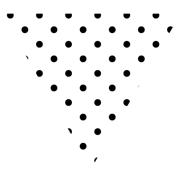 Black on white cute polka dot triangle