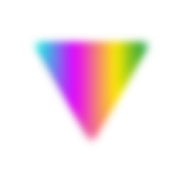 Rainbow triangle with blur