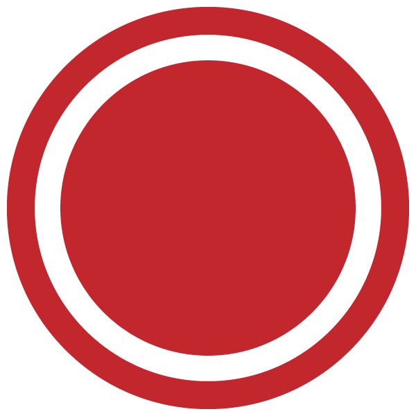 Dot with border line (Red)