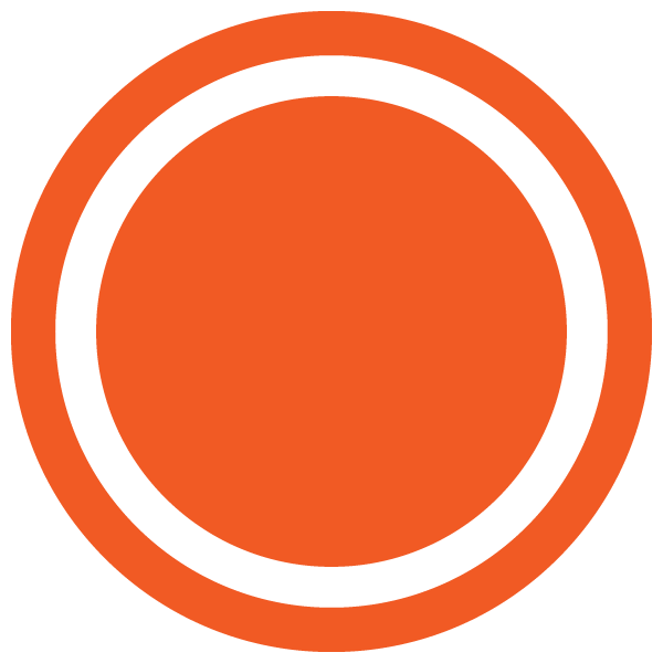 Dot with border line (Orange)