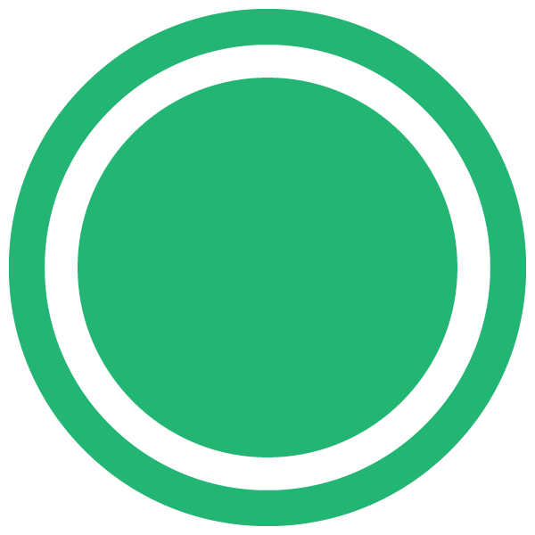 Dot with border line (Green)