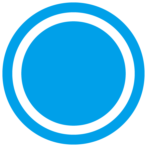 Dot with border line (Light blue)