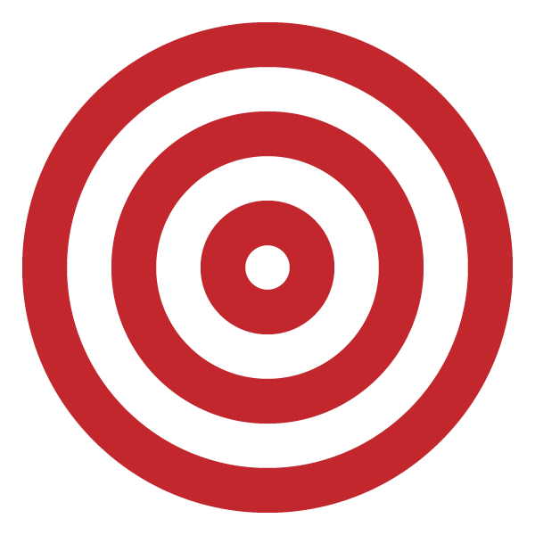 Red triple circle (target)