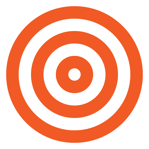 Orange triple circle (target)