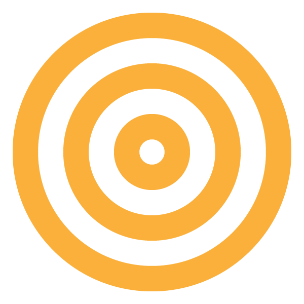 Yellow triple circle (target)