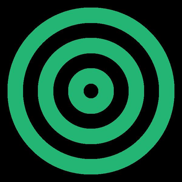 Green triple circle (target)