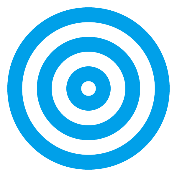 Light blue triple circle (target)