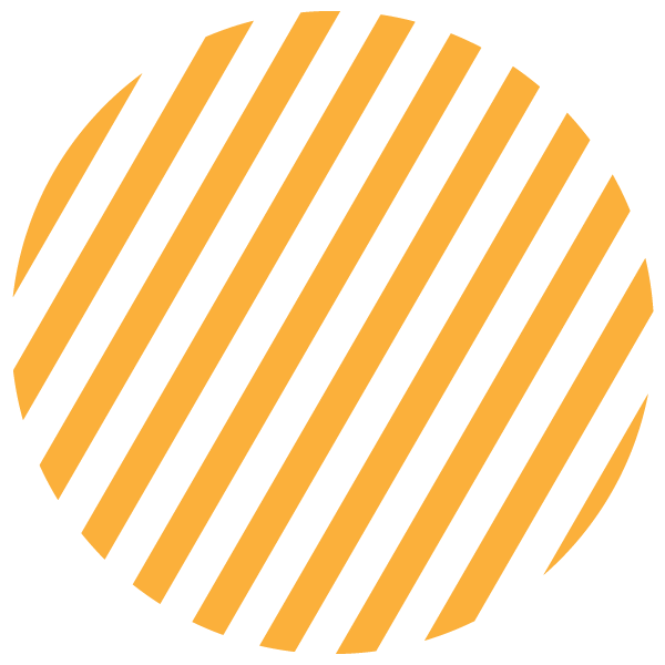 Yellow and transparent striped circle